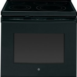 """GE - JB695DFBB 30"""" Free-Standing Electric Convection Range With Fifth Element Warming - The JB695 is a self-cleaning range with steam clean option letting you choose how to clean your oven The included storage drawer will give you a handy place to store baking sheetspans"""
