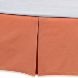 """Kas Australia - KAS Penny Bed Skirt - Frame your bed in vibrant spring color with this Penny bed skirt. It's available in a solid tangerine that coordinates perfectly with the bedding and accessories. 15"""" drop. 100% cotton. Machine washable. Imported."""