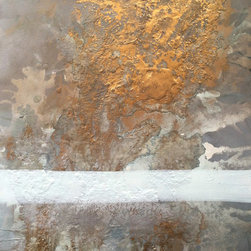 Heather Offord - Beautiful Texture Original Painting, White, Gold, And Grey - Before we get into the details I just wanted to say thank you so much for stopping to look at my art!