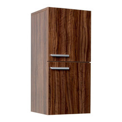 Fresca - Fresca Bathroom Linen Cabinet w/Two Storage Areas - Walnut - This great side cabinet features two storage areas each equipped with a door featuring slow closing hinges.
