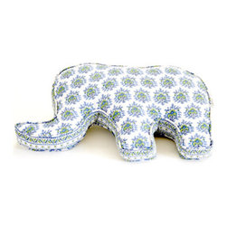 Rikshaw Design Bombay Lulu Elephant Pillow - If your bedding is up and running and you want to add a little detail to the space, check out this little guy. Nodding to India's bohemian style, this paisley elephant will brighten a crib space and become a buddy to snuggle up with.