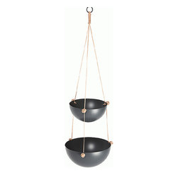 Pif Paf Puf Hanging Storage 1 Small + 1 Medium Bowl - My kitchen is on the smaller side and has very little counter space, so hanging storage is a must. These bowls are lovely and would be great for holding bananas and such.