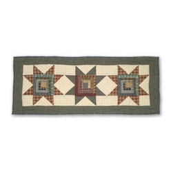 Patch Magic - Cottage Star Extra Small Table Runner - 16 in. W x 36 in. LHandmade, Hand quilted Table Runner made from 100% Cotton. Machine washable, but for best care hand wash in cold water. Do not machine dry. Do not dry clean.