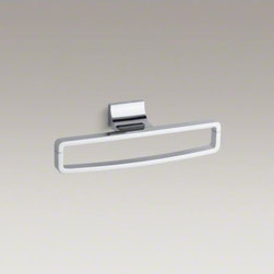 KOHLER - KOHLER Loure(R) towel ring - Loure offers thoughtful and versatile accessories that coordinate with a wide range of contemporary faucets and interiors. This towel ring features a unique, sturdy rectangular shape for a modern twist to your bath or powder room.