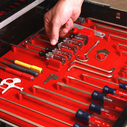 Tool Drawer Liner and Toolbox Organizer System -