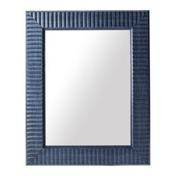 Threshold Wave Mirror, Navy Blue