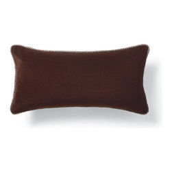 Frontgate - Velvet Decorative Pillow with Cord - Masterfully sewn velvet. Includes poly-fill insert. Hidden zipper. Our DecorativeThrowPillows are sewn from lustrious velvet. Each finely crafted pillow features a coordinating decorative welt cord trim and plump feather/down insert.  .  .  . Made in the USA of imported fabrics.