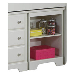 Standard Furniture - Standard Furniture Reagan Kids' Bookcase Night Table in White - Reagan bedroom offers the perfect solution for rooms that have a smaller footprint, yet still need lots of storage.