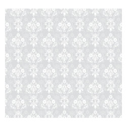 Removable Wallpaper-Enoch-Peel & Stick Self Adhesive, Iced, 24x120 - Couture WallSkins.  Your wall will love you for this.
