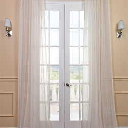 Open Weave Cream Linen Sheer - HPD has redefined the construction of sheer curtains and panels. Our sheers are classic and unmatched in their quality and create a beautiful light diffusion.
