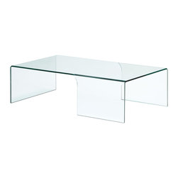 ZUO MODERN - Sabbatical Coffee Table Clear Glass - Made from a solid piece of semi-tempered glass, the elegantly shaped Sabbatical is the perfect conversation piece for any living area.