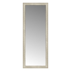 """Posters 2 Prints, LLC - 18"""" x 46"""" Libretto Antique Silver Custom Framed Mirror - 18"""" x 46"""" Custom Framed Mirror made by Posters 2 Prints. Standard glass with unrivaled selection of crafted mirror frames.  Protected with category II safety backing to keep glass fragments together should the mirror be accidentally broken.  Safe arrival guaranteed.  Made in the United States of America"""