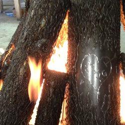 Custom Oak Steel Logs - oak steel logs