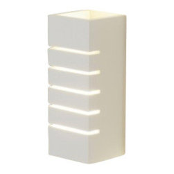 "SLV Lighting - SLV Lighting GL 100 Slot Plaster Wall Sconce - The GL 100 Slot Plaster wall lamp was designed in Germany. This plaster light is suitable for both residential and commercial applications. This fixture features plaster and steel with white painted metal finish. Electronic ballast incorporated and glove and fine abrasive paper included for cleaning. The lamps can be painted over with wall paint after priming.  Product Details: The GL 100 Slot Plaster wall lamp was designed in Germany. This plaster light is suitable for both residential and commercial applications. This fixture features plaster and steel with white painted metal finish. Electronic ballast incorporated and glove and fine abrasive paper included for cleaning. The lamps can be painted over with wall paint after priming. Details:                                                                                                                                                                       Dimensions:                                     Height Max: 9.4"" (24 cm) X Width: 3.5"" (9 cm)                                                     Light bulb:                                     1 X 11W max. E12 Self ballasted CFL (incl.)                                                     Material:                                     Plaster, steel                         ETL listed - certified for use in the US., Canada and all other countries worldwide."