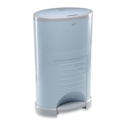 Diaper Dekor - Diaper Dekor Kolor Plus Diaper Disposal System in Soft Blue - The Dekor Kolor Plus Diaper Disposal System features a sleek design in a stylish color that complements any nursery. Best of all, it's easy to use, with a hands-free foot pedal that opens the lid so that you can drop in your diaper and be done.
