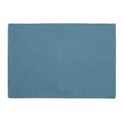 Teal Blue Cotton Twill Custom Placemat Set - Is your table looking sad and lonely? Give it a boost with at set of Simple Placemats. Customizable in hundreds of fabrics, you're sure to find the perfect set for daily dining or that fancy shindig. We love it in this