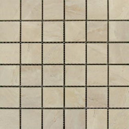 Tilesbay.com - Sample of 2X2 Glazed Onyx Sand Porcelain Tile - Onyx Sand 2x2 Mosaic Glazed Porcelain Tile is a low variation tile available in a variety of sizes. The creams, whites and grays are subtle and are a perfect accent for bathroom, kitchen, foyer as backsplashes or wall tiles.