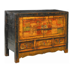 EuroLux Home - Repainted Antique Chinese Cabinet - Product Details