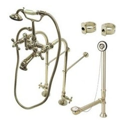 Free Standing Clawfoot Tub Filler with Hand Shower Package -