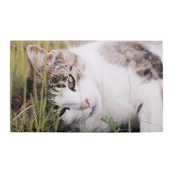 Esschert Design - Printed Doormat - Cat - Let this pretty kitty greet your desks with her peaceful gaze, inviting folks into your home in a friendly fashion. This printed doormat comes in an easy-to-clean rubber material, so go ahead, wipe your feet!