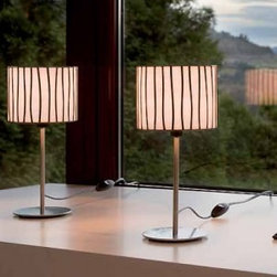 """Arturo Alvarez - Curvas table lamp - Products description:  The Curvastable lampfrom Arturo Alvarez was designed by Arturo Alvarez and made in Spain.The Curvas table lamp is a continous irregularity, curved pieces that fit each other in a subtle movement, a sensation of well being. A warm and elegant collection.    Details:                                Manufacturer:                             Arturo Alvarez                                                Designer:                             Arturo Alvarez - 2004                                                Made  in:              Spain                                  Dimensions:                             Height: 13"""" (33cm) X Width: 6"""" (15.2cm)                                                              Light bulb:                                           1 X 100W E12 Candelabra                                                Material                             Metal, Glass"""