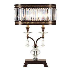 Fine Art Lamps - Fine Art Lamps 606010-2ST Eaton Place Silver Leaf Table Lamp - 2 Bulbs, Bulb Type: 60 Watt Candelabra; Weight: 40lbs