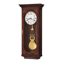 Howard Miller - Howard Miller Cherry Triple Chime Pendulum Wall Clock | LEWIS - 613637 Lewis