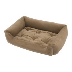 Jax & Bones - Jax & Bones Everyday Nest Bed Brown Sugar Large - Built like a sofa with extra length for dogs who like to stretch. Made with heavy weight velour fabrics and filled with Sustainafill, our signature eco-friendly fiber. Fabric is 100% machine washable.