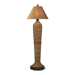 Patio Living Concepts - South Pacific Outdoor Floor Lamp Multicolor - 45943 - Shop for Lamps from Hayneedle.com! Bring a touch of the islands to your outdoor paradise with the South Pacific Outdoor Floor Lamp. This attractive lamp features a bamboo design made of durable all-weather resin. It illuminates via a 2-level dimming switch and a single 100-watt bulb (bulb not included). It s completely weatherproof with an unbreakable polycarbonate waterproof cover. Comes complete with a 16-foot cord for easy placement.About Greenway Home ProductsGreenway Home Products is a diversified home products company that designs develops manufactures and markets an extensive line of residential appliances. The extensive line-up of products includes water dispensers water treatment accessories laundry racks solar fountains wine cabinets and electric fireplaces all of which incorporate cutting-edge design and technology. Designed and engineered in Canada all of Greenway's products are made with a strong commitment to design and innovation.