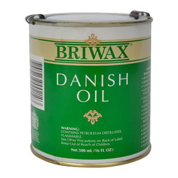 Briwax international - Briwax Danish Oil 16 oz (500 mL) - A Briwax product, Danish Oil is a blend of oils and resins, which seals, feeds and finishes a wide variety of woods without leaving a surface film that can be chipped or scratched. Danish Oil gives a matte finish, whereas Teak Oil is glossier.