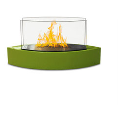 Anywhere Fireplace - Lexington Tabletop Bio-ethanol Fireplace, Green - Forget about candles and other table top accents to add ambiance. The Lexington model Anywhere FireplaceTM brings you all the tabletop elegance you are looking for with its distinctive shape, high gloss white finish and its real flames. Enjoy the ambiance of a real fire but without the hassle of smoke, melting wax, soot, ash, smell etc. Use it on the dinner table or a coffee table.