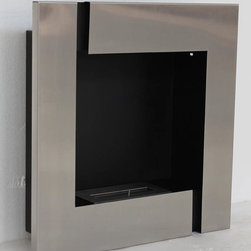 "Tokio - Modern Recessed Ventless Ethanol Fireplaces - "" TOKIO ""  Modern Recessed Ventless Ethanol Fireplace"
