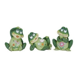 """Benzara - Casual Frog Decor 3 Assorted Soft Green in Shade and Versatile - Casual Frog Decor 3 Assorted Soft Green in Shade and Versatile. Reflect your love for nature with this 8""""H Casual Frog decor 3 Assorted Soft Green in Shade and Versatile. It comes with following dimensions 4""""W x 7""""D x 8""""H."""
