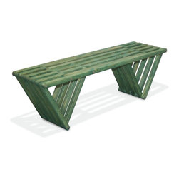 GloDea - GloDea Bench X60 - Alligator Green - The XQuare collection was conceptualized by the Brazilian designer Ignacio Lejarcegui Santos. This furniture line of unique designs is handcrafted 100% in Jacksonville, FL (USA). It is made from eco friendly premium southern yellow Pine, assembled using high quality stainless steel hardware and shipped in recyclable packaging! The XQuare collection has a modern and daring design with eye-catching lines that will surely get you many great compliments.