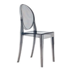 "Kartell Victoria Ghost Chair - The armless Kartell ""Victoria"" Ghost Chair is a less expensive alternative to the Louis Ghost Chair."
