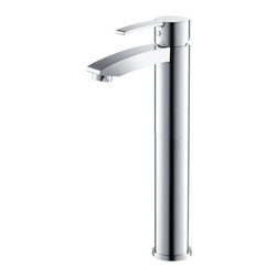 Fresca - Fresca Livenza Single Hole Vessel Mount Bathroom Vanity Faucet - This single hole vessel faucet is made from heavy duty brass with a chrome finish. Features ceramic mixing valve for longevity and watertight functionality.