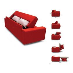 Modern sofa beds - SB 19 - Made in Italy - Modern sofa beds, sectional sofa beds, sofa beds storage, wall beds, Italian furniture, modern furniture, designer furniture, transformable furniture and space saving furniture from $ 5000