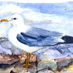 Caroline's Treasures - Bird - Thayer's Gull Fabric Standard Pillowcase Moisture Wicking Material - Standard White on back with artwork on the front of the pillowcase, 20.5 in w x 30 in. Nice jersy knit Moisture wicking material that wicks the moisture away from the head like a sports fabric (similar to Nike or Under Armour), breathable performance fabric makes for a nice sleeping experience and shows quality. Wash cold and dry medium. Fabric even gets softer as you wash it. No ironing required.