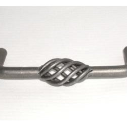 Top_Knobs - Top Knobs - Twisted Wire D Pull 3 3/4 CC - Pewter - M652 - Normandy Collection, Steel Base Material,  Weight: 0.15 Lbs