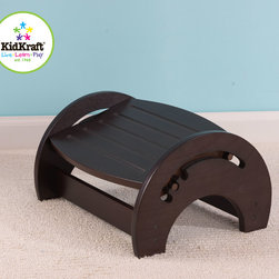 Kids Kraft - Kidkraft Adjustable Nursing Stool In a Espresso Color From VistaStores - This is KidKraft adjustable nursing stool in Espresso color. This stool is adjustable with three different positions and gives great comfort. Its classic and easy-to-use design, makes this nursing stool a great baby shower gift. This stool also come with Anti-slip pads on the base and Lead-free and non-toxic finish. It is also Available in white, natural, cherry, honey and espresso color.