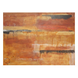 Line Storm (Original) by Kim Arrasmith - Warm colors, calm and relaxing piece