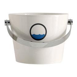 Scarabeo - Ceramic Porthole Style Bucket Bathroom Sink - Modern style vessel bathroom bucket sink.