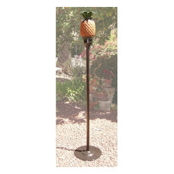 Arctic Flame - Pineapple Tiki Torch with Pole - The Arctic Flame Tiki Torches are a garden delight with the natural thematic designs. Bring a bit of the tropics to your home and backyard with the Pineapple Tiki Torch!