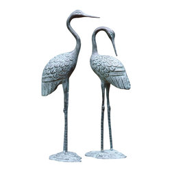 "SPI - Love Cranes Pair - -Size: 16.5""H, 15""H"