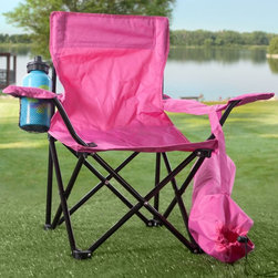 W C Redmon - Kids Folding Camp Chair - 9006BL - Shop for Childrens Outdoor Furniture from Hayneedle.com! Show your child the brilliance of the outdoors with our new Kids Folding Camp Chair. Constructed with 600 PVC coated polyester fabric and powder-coated steel frame this camp chair is heavy duty. Available in your choice of color this can be the perfect addition to your camping world. Adorable and convenient the Kids Folding Camp chair comes with a cup holder and its own drawstring carry bag in matching color. The dimensions of the chair are 14L x 14W x 23H inches with an approximate seat height of 11 inches. Did we say heavy duty? We meant it. Recommended for children ages 2 through 6 the chair has the capacity to hold up to 160 lbs. Best of all is the easy cleaning. Just wipe down with a damp cloth and you're done. So bring your camera the smores and the smiles.About Redmon CompanyFor over 120 years the W.C. Redmon Company has been supplying America with quality products for the home and family. The company's longevity however is no wonder because its business philosophy has been to strive always for magnanimity of purpose. Redmon provides quality-crafted and functional merchandise at affordable prices. Based out of Peru IN Redmon offers a variety of products for the home including bed and bath items a bongo bag collection infant and toddler supplies personal and health care items and pet supplies. Redmon is always adding new items and collections that reflect changing trends in today's lifestyles.