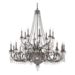 Crystorama - Crystorama 5170-EB-CL-MWP Chandelier - Named for American aristocracy, our Vanderbilt collection includes style and class. The Victorian-style collection is finished in a rich English bronze and adorned with clear hand polished crystal jewels.