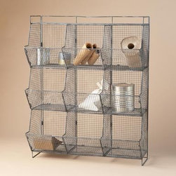 Wright's Peak Chicken Coop Bin - This wire chicken coop storage is a stylish, vintage modern storage solution for mudrooms, craftrooms, home offices and kids' rooms.