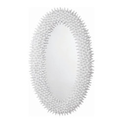 Arteriors - Arteriors Spore Mirror Chalk White - The spore mirror is a faithful reproduction of a 60's original papier-mache and wax piece found in Paris. The juxtaposition of the stark white finish and the organic podlike texture create a bold statement.