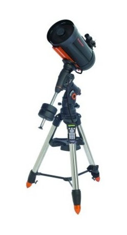"Celestron CGEM DX 1100 Schmidt-Cassegrain Telescope - The Celestron CGEM DX 1100 features the high-end 11"""" Schmidt Cassegrian OTA with XLT coatings mounted on Celestron's brand new CGEM DX mount. The Celestron CGEM DX mount is the newest member of our fully computerized Equatorial mount series capable of carrying Celestron's high-end 11"""" and 14"""" optical tubes. The CGE PRO style 2.75"""" tripod legs holds even the our 14"""" optics securely while dampening vibration which is ideal for both imaging and visual observing. Capable of holding 50 lbs of payload and slewing at 5 per second you will be able to instantly point to any of the celestial objects in the database. Ergonomic Design - CGEM DX was designed to be ergonomically friendly with large Altitude and Azimuth adjustment knobs for quick and easy polar alignment adjustment. The internal RA and DEC motor wiring provides a clean look and an easy and trouble free set up. Innovation - The CGEM DX series has a new innovative Polar alignment procedure called All-Star. All-Star allows users to choose any bright star while the software calculates and assists with polar alignment. Another great feature of the CGEM DX sure to please astroimagers is the Permanent Periodic Error Correction (PEC) which will allow users to train out the worm gears periodic errors while the mount retains the PEC recordings. Performance - For objects near the Meridian (imaginary line passing from North to South) the CGEM DX will track well past the Meridian for uninterrupted imaging through the most ideal part of the sky. The CGEM mount has a robust database with over 40 000 objects 100 user defined programmable objects and enhanced information on over 200 objects. Power Management - Redesigned electronics deliver constant regulated power to the motors making them capable of driving the telescope even when not perfectly balanced. This allows the CGEM DX to have the payload capacity of that of much larger mounts without sacrificing smooth tracking motion and pointing accuracy across the entire sky. Celestron CGEM DX 1100 - General Features 11"""" Schmidt-Cassegrain telescope CGEM DX Computerized Equatorial Mount Schmidt-Cassegrain mechanism that moves the primary mirror to adjust focus is supported by two pre-loaded ball bearings minimizing the mirror flop typical of bushing focus mechanisms Celestron's premium StarBright XLT coatings 9x50 finderscope to help accurately find objects Ultra sturdy 2.75 inch steel tripod with Accessory Tray Star diagonal provides more comfortable viewing position when observing objects that are high in the sky Celestron CGEM DX 1100 - Computerized Mount Features Secure power plug ensures that the mount's power source is not accidentally disconnected 40 000 object database with over 100 user-definable objects and expanded information on over 200 objects Proven NexStar computer control technology New """"All-star"""" Polar alignment uses any bright star for a quick and accurate Polar alignment Software Features include: Mount Calibration Database Filter Limits Hibernate five Alignment Procedures Flash upgradeable hand control software and motor control units for downloading product updates over the Internet Custom database lists of all the most famous deep-sky objects by name and catalog number: the most beautiful double triple and quadruple stars; variable stars; solar system objects and asterisms Permanent Programmable Periodic Error Correction (PEC) - corrects for periodic tracking errors inherent to all worm drives Drive Motors - Low Cog DC Servo motor with integrated optical encoders offer smooth quiet operation and long life. The motor armatures are skewed to minimize cogging which is required for low speed tracking Internal Cable wiring for trouble-free setup and transportation Designated six-pin RJ-12 modular jack ST-4 compatible guide port Autoguide port and Auxiliary ports located on the electronic plate for long exposure astrophotography Double-line 16-character Liquid Crystal Display Hand Control with backlit LED buttons for easy operation of goto features RS-232 communication port on hand to control the telescope via a personal computer Includes NexRemote telescope control software for advanced control of your telescope via computerGPS compatible with optional SkySync GPS Accessory Precision machined 40 mm diameter steel Polar shafts supported by multiple tapered roller bearings and ball bearings About Celestron Schmidt-Cassegrain Telescopes Celestron's excellent Schmidt-Cassegrain telescopes are compact and portable and represent the best all-purpose design for a wide variety of uses from terrestrial and deep sky viewing to astrophotography. Catadioptrics use a combination of mirrors and lenses to """"fold"""" (reflect) the light path and form an image. In a Schmidt-Cassegrain the light enters through a thin aspheric Schmidt correcting lens. It then strikes the spherical primary mirror. It is reflected back up the tube and intercepted by a small secondary mirror which reflects the light out an opening in the rear of the instrument where the image is formed at the eyepiece. Catadioptrics are the most popular and most modern type of telescope optical design and are marketed throughout the world in 3.5"""" and larger apertures. Catadioptric telescopes combine the practical advantages of lenses and mirrors while eliminating their disadvantages. They offer the clarity and contrast of refractors with the low aberration of reflectors. Catadioptrics have an average focal ratio of f/10 which is wide enough for all types of photography. They are also easier to maintain because all optical elements are solidly mounted and rigidly collimated. Catadioptric telescopes provide the best possible combination of light gathering power long focal length portability and affordability. Schmidt-Cassegrain Advantages Very versatile best all-purpose telescope design Combines the optical advantages of both lenses and mirrors while eliminating their disadvantages Excellent optics and razor sharp images over a wide field Excellent for deep sky observing and astrophotography as well as terrestrial viewing Very good for lunar planetary and binary star observing Focal ratio generally around f/10 it also has the best near focus capability of any type of telescope Closed tube design reduces image-degrading air currents Extremely compact and portable Easy to use durable and virtually maintenance free Large apertures at reasonable cost and less expensive than equivalent aperture refractors More accessories available than with other types of telescopes Schmidt-Cassegrain Disadvantages More expensive than Newtonians of equal aperture Slight light loss due to secondary mirror obstruction compared to refractors The Maksutov-Cassegrain is similar to the Schmidt-Cassegrain with essentially the same advantages and disadvantages. It uses a thick meniscus correcting lens with a strong curvature and a secondary mirror that is usually an aluminized spot on the corrector. Celestron All-Star Polar Alignment Technology All-Star Polar Alignment TechnologyGerman Equatorial Mounts (GEM) have long since been recognized as the mount of choice for astrophotography. Needing to track in only one axis for long exposures; adjustable counterweights and tube position for perfect balance the GEM has few short comings when it comes to imaging. In order to do long-exposure astro-imaging an equatorially aligned telescope is needed to allow your telescope to properly track the motion of the sky. However accurate tracking still depends on an accurate polar alignment. Even with a visible star very near the North Celestial Pole (NCP) the true celestial pole can be a very elusive place to find without assistance. Now select Celestron mounts can utilize a new innovative Polar alignment procedure called All-Star™. All-Star allows users to choose any bright star while the software calculates and assists with polar alignment. Here's how it works. Once your telescope is aligned with two bright star All-Star allows you to choose any bright star listed in the NexStar hand control to assist in accurately aligning your telescope's mount with the North Celestial Pole. Using the telescope's Sync function the mount is able to point and center a bright star with a high degree of accuracy. Once centered the mount will point the telescope to the exact position that the star should be if the mount were precisely polar aligned. By simply adjusting the mounts altitude and azimuth controls to re-center the star in the center of the eyepiece you are actually moving the mounts polar axis to the exact position of the North Celestial Pole. FAQ Can I use Polaris to polar align my telescope?Since Polaris is very close to the NCP and not very bright it is actually not a recommended star for the """"All-Star"""" method. The advantages of being able to use stars other than Polaris are two fold: Polaris is not always visible. So not only can you use a variety of other stars but they are also brighter and more prominent.The star you choose will be farther away from the NCP thus allowing for greater accuracy when centering the star in your eyepiece. Which stars are best to use for polar aligning?For best results choose a bright alignment star that is near the Meridian preferably close to the celestial equator. Try to avoid stars that are close to the west/east horizon or directly overhead because they can be more difficult to center using the mount's altitude and azimuth controls. Also stars too near the celestial pole are less accurate than those further away. Will I lose my alignment after I polar align?No the mount will retain its alignment but some amount of accuracy may be compromised depending on how much the mount has been moved during polar alignment. Although the telscopes tracking may be very good pointing accuracy may need to be improved especially if you are trying to located small objects on a ccd chip. What are the steps to polar align my telescope using """"All-Star"""" polar alignment? Align the telescope with the sky using the """"Two-Star Alignment"""" method. Select a suitable bright star from the Hand Control's database and slew the telescope to the star. Press the Align button and select Polar Align => Align Mount from the list. The telescope will then re-slew to the alignment star and ask you to center it in the eyepiece in order to """"Sync"""" on the star. The telescope will slew to the position that the star should be if it were accurately polar aligned. Use the mounts altitude and azimuth adjustments to place the star in the center of the eyepiece and press the Align button. Update the telescope's star alignment if necessary."