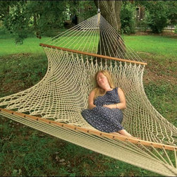 Fifthroom - Stratford Silkspun Rope Hammock - If you're trying to decide the best way to enjoy some outdoor relaxation, our Stratford Hammock may very well sway your decision.  Made from Silkspun Rope, it gives you all of the strength and beauty of silk, as well as the incomparable softness.  Available in three colors, it will complement any porch, patio, deck, or gazebo.  Indeed, this easy-to-clean Hammock, which is resistant to fading, mold, and mildew, upsets all of the competition when it comes to sheer comfort and style.